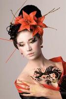 a jovem mulher japonesa