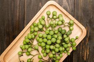 berry de peru ou berinjela de ervilha foto