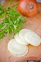 cebola e salsa frescas foto