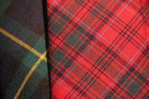 close-up de tecido tartan, Escócia. foto