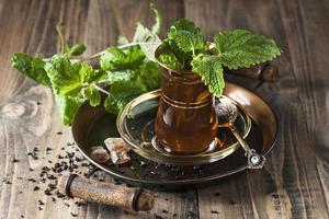 chá de menta foto