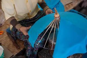 como fazer o processo guarda-chuva / artes e ofícios foto