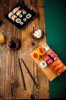 tema oriental com sushi