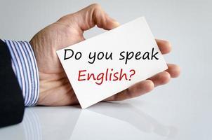 você fala inglês?? foto