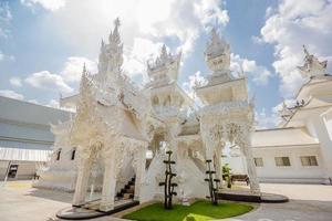templo da Tailândia - wat rong khun de chiangrai Tailândia foto