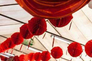 lanternas chinesas vermelhas foto