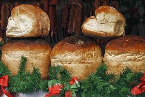 casa de pão redondo foto