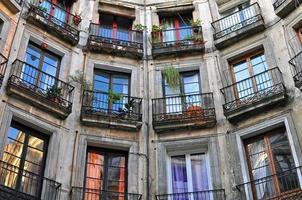 janelas da casa foto