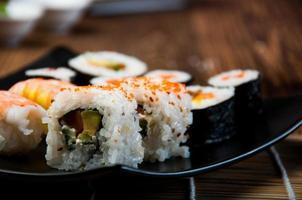 sushi oriental fresco e saboroso, tema japonês
