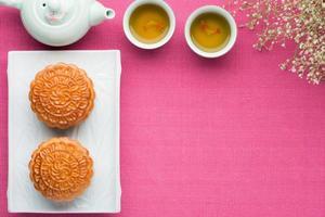 mooncake chinês foto