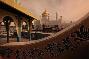 mesquita de brunei darussalam foto