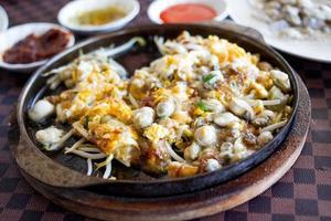 a omeleta chinesa de ostras. foto