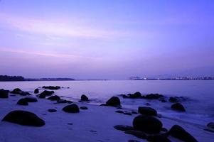 praia de punggol, cingapura foto