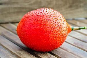 fruta cabaça cochinchin (pepino amargo da primavera, jaca bebê s foto