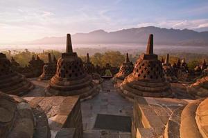 templo borobudur indonésia foto