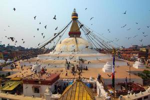boudhanath stupa em kathmandu, nepal.
