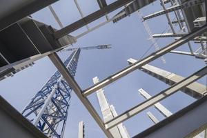 projeto estrutural e guindaste de lança foto