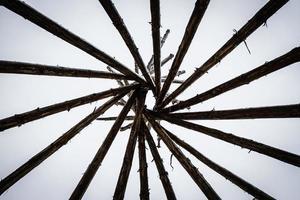 a estrutura do cone de toras foto