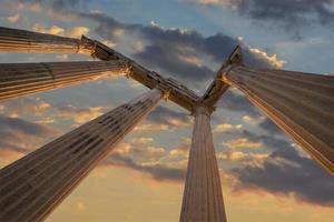 ruínas do templo de Apolo -antalya-turquia foto