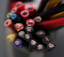 cabos elétricos foto