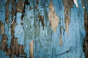 velha cadeira azul foto