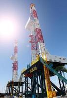 torre de óleo foto