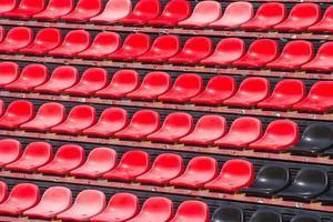 assentos do estádio. foto