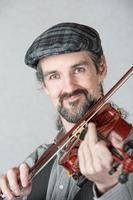 close-up do violinista irlandês foto