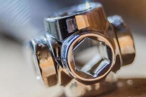 closeup de ferramenta multi soquete chave foto