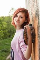 garota de skate. foto