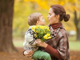 beijo para uma mãe foto