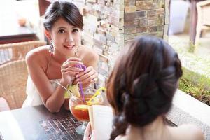 retrato de mulher jovem asiática foto