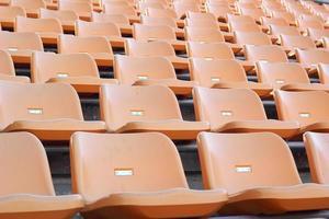 assentos do estádio para visitantes algum esporte ou futebol foto