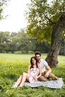dia romântico ao ar livre foto