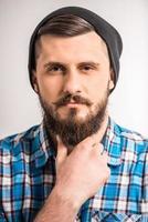 homem barbudo foto