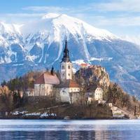 Lago sangrado, Eslovênia, Europa.