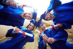 círculo de graduados foto
