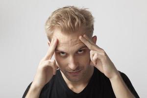 dor de cabeça foto