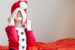 criança no natal foto