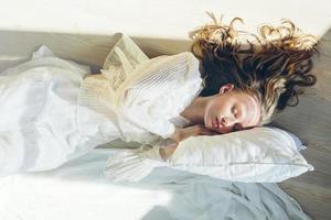 retrato de arte abstrata de mulher adormecida foto