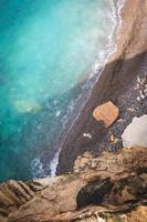 vista panorâmica sobre o mar foto