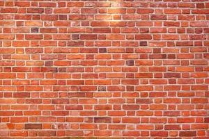 fundo de textura de parede de tijolo vermelho foto