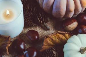 close-up de decoração de outono foto