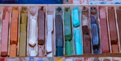 pastéis de óleo colorido