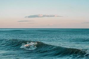 onda azul do oceano