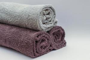 conjunto de três toalhas foto