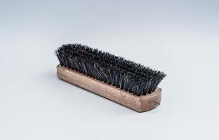 escova de sapato preto foto