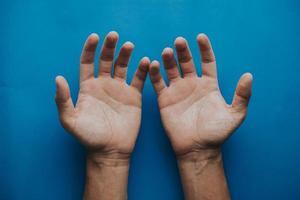 closeup de mãos foto