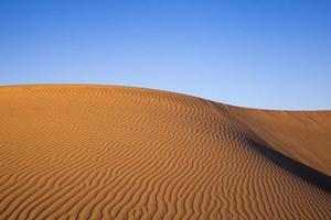 dunas de areia em pleno sol foto