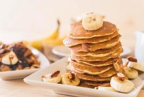 panquecas de amêndoa e banana